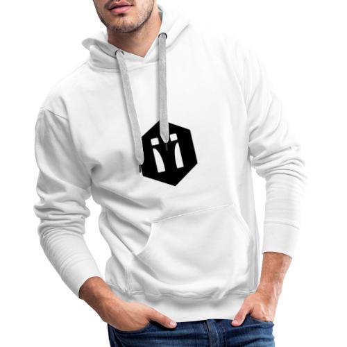Logo schwarz 2-farbig - Männer Premium Hoodie