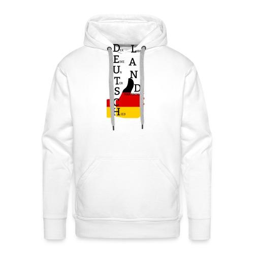 Deutsche Flagge mit Daumen 2 (Exklusives Design) - Männer Premium Hoodie