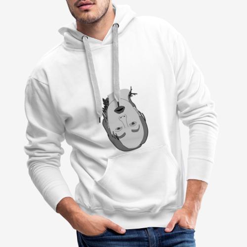 Omvendt Ansigt Greyscale - Herre Premium hættetrøje