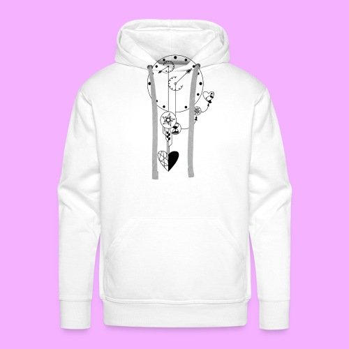 L'amour - Sweat-shirt à capuche Premium pour hommes