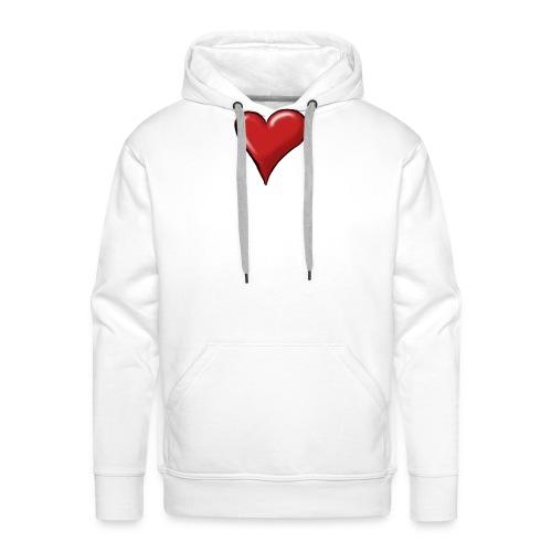 Love (coeur) - Sweat-shirt à capuche Premium pour hommes