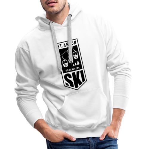 Retro ski emblem St. Anton - Mannen Premium hoodie