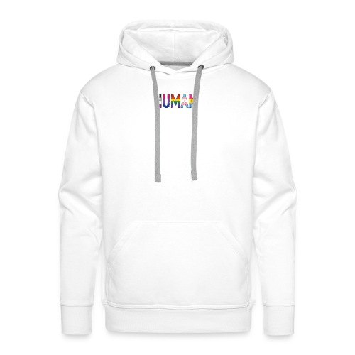 HUMAN - Rainbow - Männer Premium Hoodie