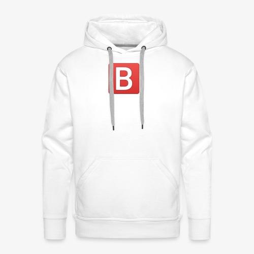 b emoji meme - Sweat-shirt à capuche Premium pour hommes