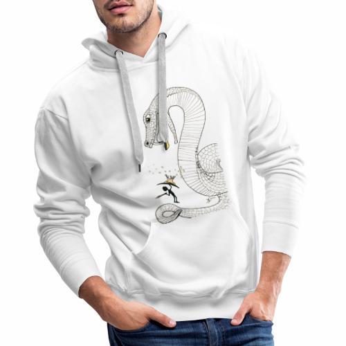 Poison - Combat contre un serpent venimeux géant - Sweat-shirt à capuche Premium pour hommes