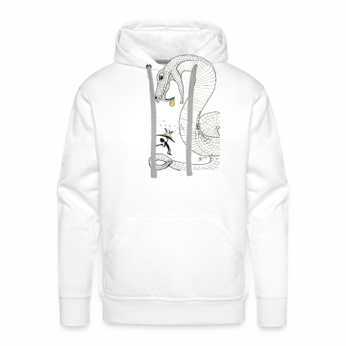 Poison - Fight against a giant poisonous snake - Men's Premium Hoodie