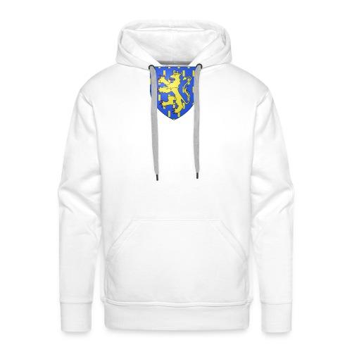 Blason de la Franche-Comté avec fond transparent - Sweat-shirt à capuche Premium pour hommes