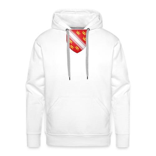 Blason de l'Alsace - Sweat-shirt à capuche Premium pour hommes