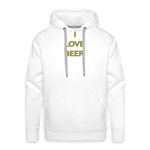 I LOVE BEER - Felpa con cappuccio premium da uomo