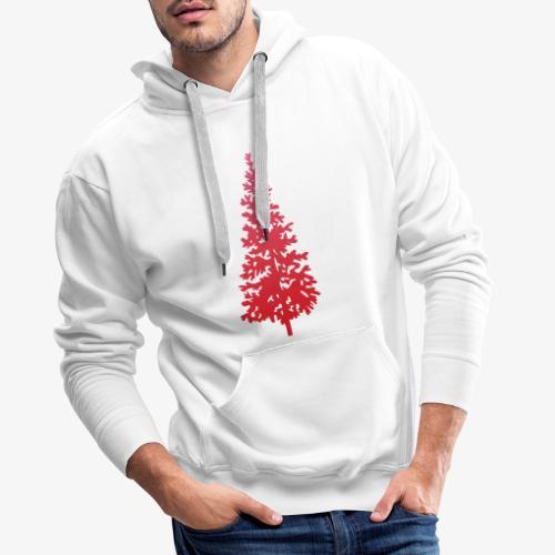 navidad árbol regalos fiesta Christmas - Sudadera con capucha premium para hombre