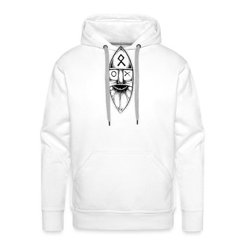 Odin / Wodan / Wotan Drawing - Men's Premium Hoodie