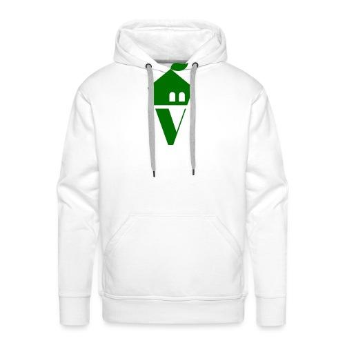 Villekula Logo in Grün auf Schwarz - Männer Premium Hoodie