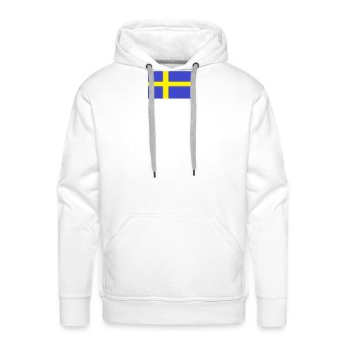 sverigeflaggahemmagjord png - Men's Premium Hoodie