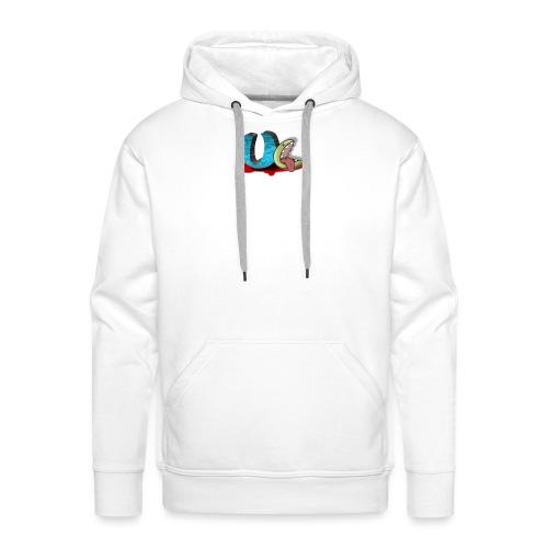 unclean comm logo transparent - Sweat-shirt à capuche Premium pour hommes