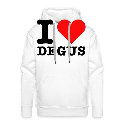 I Love Degus | Lustiger Spruch - Männer Premium Hoodie
