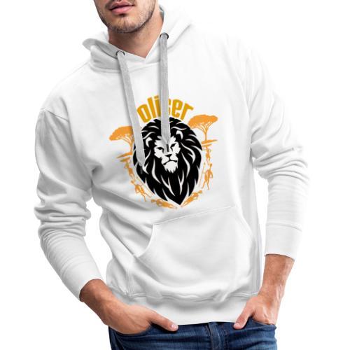 Oliser-Lion King - Felpa con cappuccio premium da uomo