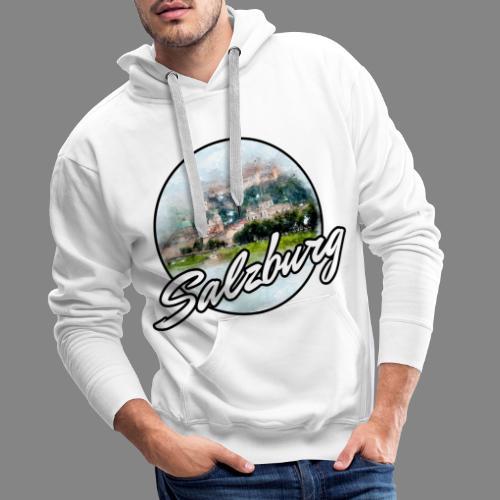 SBG Salzburg Stadt Österreich Wasserfarben Shirt - Männer Premium Hoodie