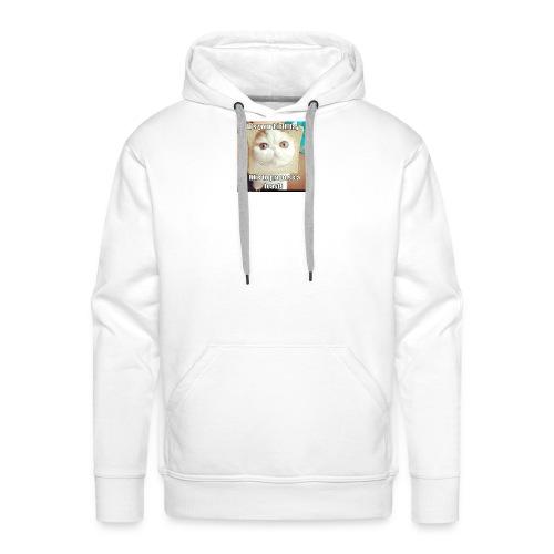 grappige kat - Mannen Premium hoodie