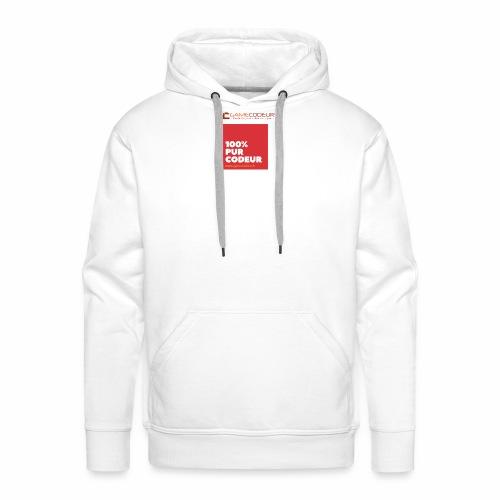 100% PUR CODEUR - CARRE ROUGE - Sweat-shirt à capuche Premium pour hommes