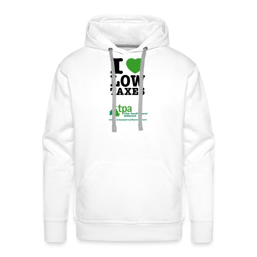 i love low taxes cmyk 2 spots 2 - Men's Premium Hoodie