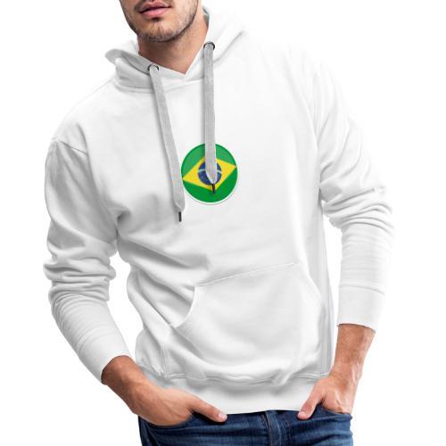 Bandeira do brasil Encontro - Men's Premium Hoodie
