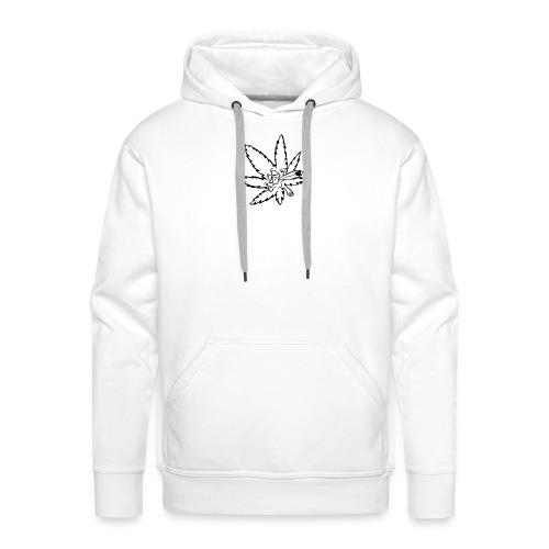 liść marihuany - Bluza męska Premium z kapturem