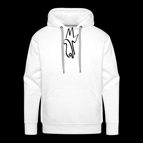 Meemiphes Musta Logo - Miesten premium-huppari