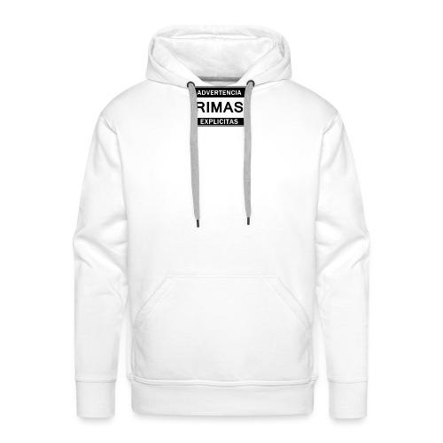 advertencia Rimas Explicitas - Sudadera con capucha premium para hombre