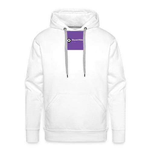 Purple with Ball Icon Soccer Logo - Herre Premium hættetrøje