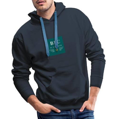 Dark Green Lines and Stars Political Logo - Sudadera con capucha premium para hombre