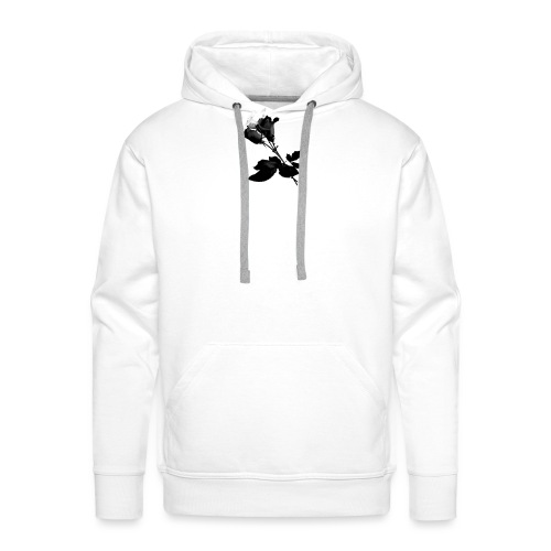 Black and White Rose Bundle - Men's Premium Hoodie