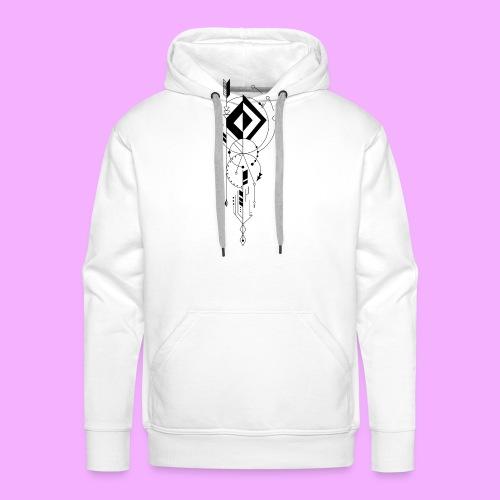 la vie - Sweat-shirt à capuche Premium pour hommes