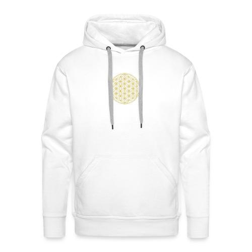 Goldene Blume des Lebens - Männer Premium Hoodie
