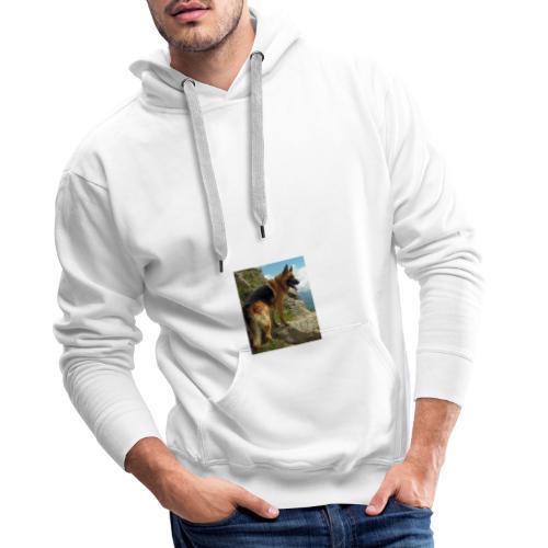 un chien berger allemand 4b257eb32ea8333f132a9071d - Sweat-shirt à capuche Premium pour hommes