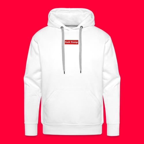 fuck trump - Sweat-shirt à capuche Premium pour hommes