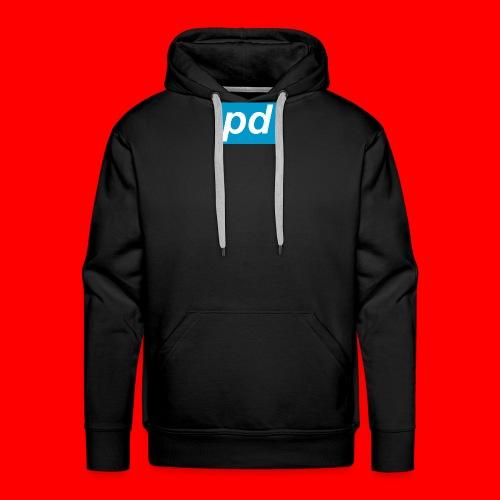 pd Blue - Herre Premium hættetrøje