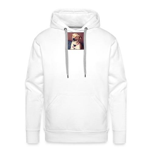 perro riendo - Sudadera con capucha premium para hombre