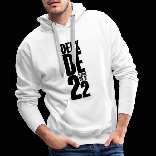 Deux De 2 Official Merch' - Sweat-shirt à capuche Premium pour hommes