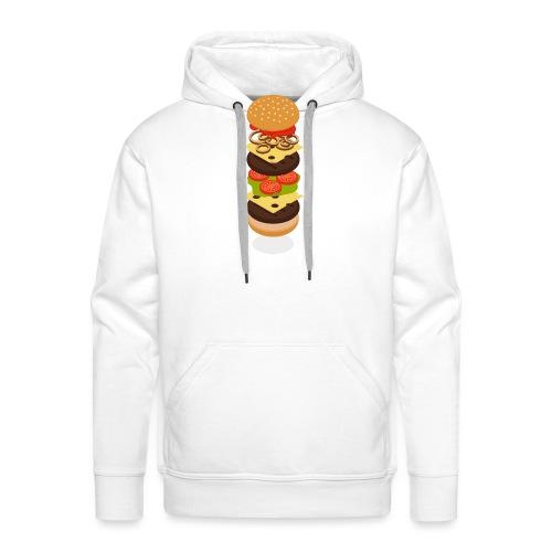 Isometric Burger Tower - Men's Premium Hoodie