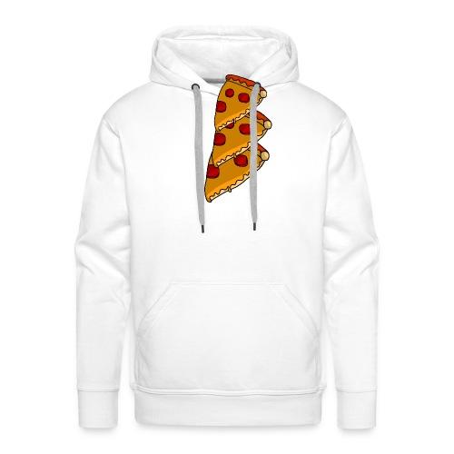 pizza - Herre Premium hættetrøje