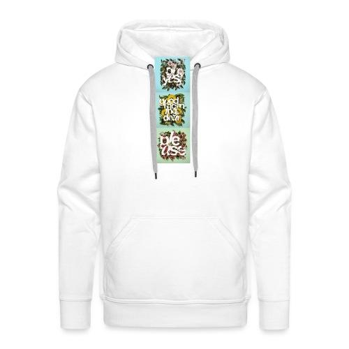 Thème floral x3 - Sweat-shirt à capuche Premium pour hommes