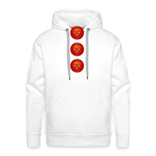 3 rote Knöpfe Knopf Buttons modische Accessoires - Men's Premium Hoodie