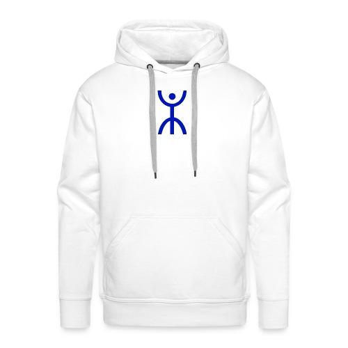 énana bleu - Sweat-shirt à capuche Premium pour hommes