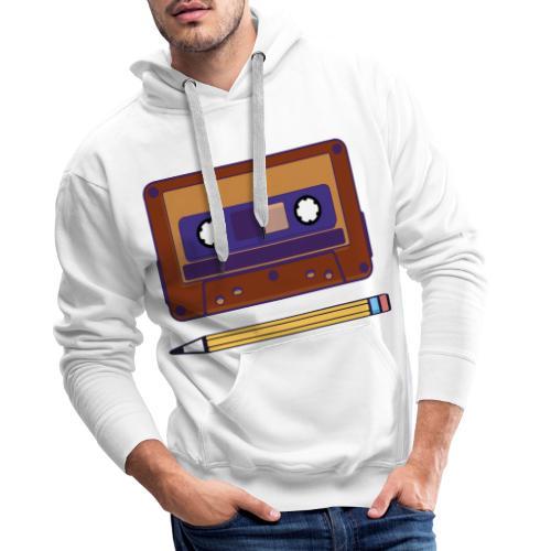 Cassette y Lapiz - Sudadera con capucha premium para hombre