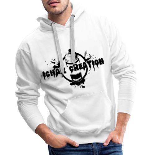 LOGO IcharCreation - Sweat-shirt à capuche Premium pour hommes