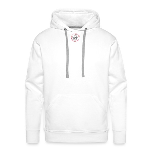 pray and never give up - Männer Premium Hoodie