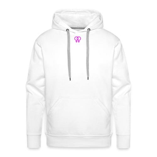 lesbian logo - Sweat-shirt à capuche Premium pour hommes