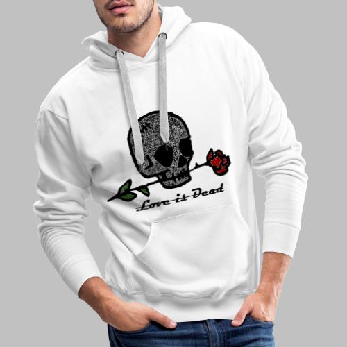 Love Is Dead Custom Skull Design - Mannen Premium hoodie