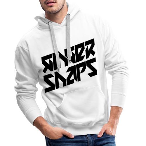 Ginger Snap5 logo (two lines black) - Men's Premium Hoodie