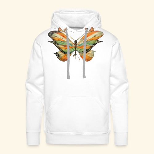 grande farfalla colorata - Felpa con cappuccio premium da uomo